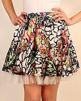 Пышная юбка с фатиновым подъюбником 42-48 р