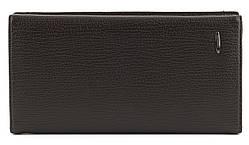 Мужской стильный практичный классический портмоне бумажник под купюру PU кожи FUERDANNI art. 1801 Коричневый