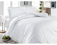 Комплект постельного белья First Choice Satin Lines Style Beyaz сатин 220-200 см белый, фото 1