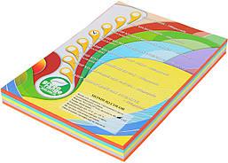 Бумага цветная IQ Интенсив А4 80 гр/м2 набор 5 цветов 250 листов