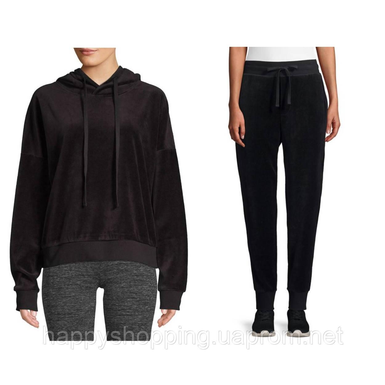 Женский черный велюровый спортивный костюм ASKYA