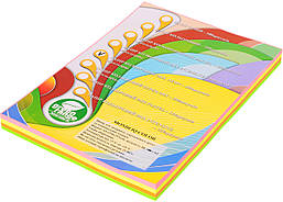Бумага цветная IQ Неон А4 80 гр/м2 набор 4 цветов 200 листов
