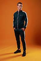 Спортивный костюм мужской, весенний, осенний в стиле FILA хаки