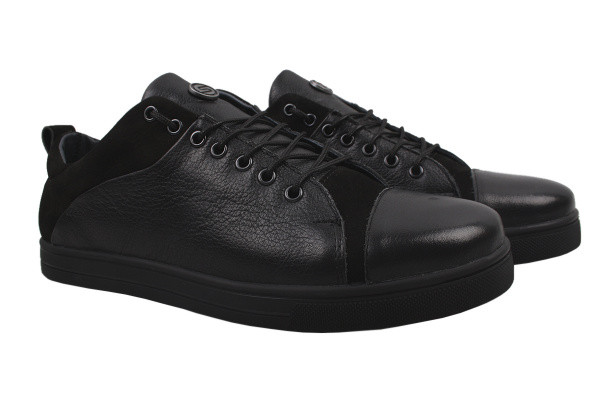 Туфли комфорт Samas натуральная кожа, цвет черный