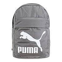Рюкзак спортивный Puma Originals Steel Gray 074799 06 (серый, не промокаемое днище, 20 литров, логотип пума)