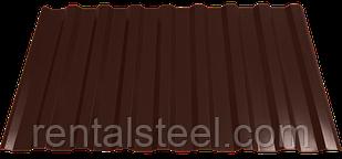 Профнастил кровельный НС-20 0,4 RAL 8017 шоколадно-коричневый h-2 м.пог