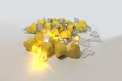 Светодиод желтый для шаров