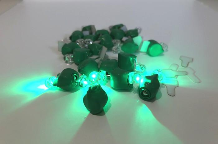 Светодиод зеленый для шаров