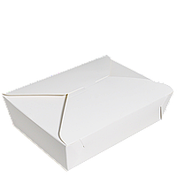 Упаковка (вторые блюда) ЛА 0100 белая 182*130*55мм (уп/25шт) (Р)