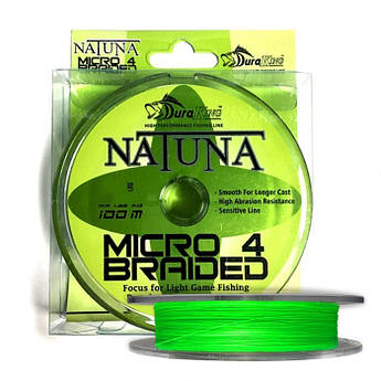 Шнур DuraKing Natuna Micro X4 Bride 100m. 0.4/0.10mm. /13Lbs. /5.9kg.
