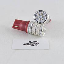 Светодиодная авто лампа SL LED, цоколь W5W(T10)  36 LED 3014, 12-24 В. Красный, фото 2
