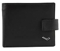 Мужской стильный классический кошелек c прочной кожи WATER LILY art. 0712 черный