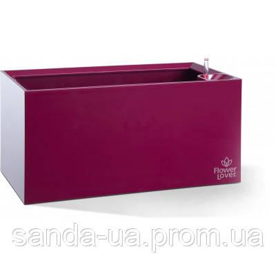 Вазон с оросительной системой Cubico Flower Lover пурпурный глянценвая 41118073