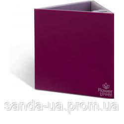 Вазон с оросительной системой Triangle Flower Lover пурпурный глянцевый 41118133