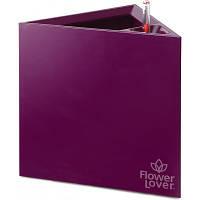 Вазон с оросительной системой Triangle Flower Lover пурпурный глянцевый 41118083