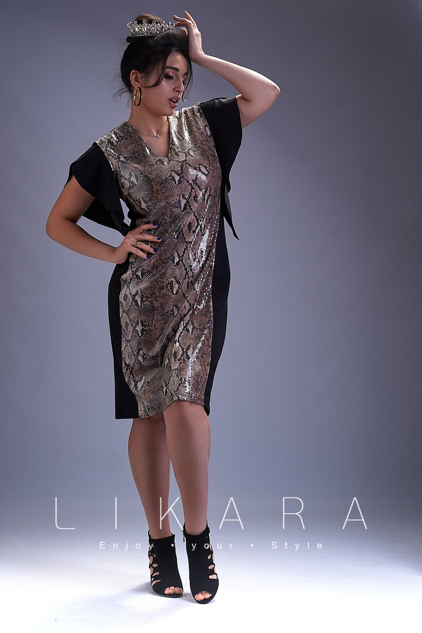 Женское стильное платье  ИС819 (бат)