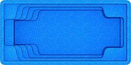 "Композитная чаша бассейна ""Оскар 7"" (длина: 7,2м, ширина:3,6 м, глубина:1,55)"