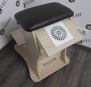 Подставка для ног для педикюра (Цена Без вытяжки для маникюра) пуф-тележка педикюрная АріяТ29