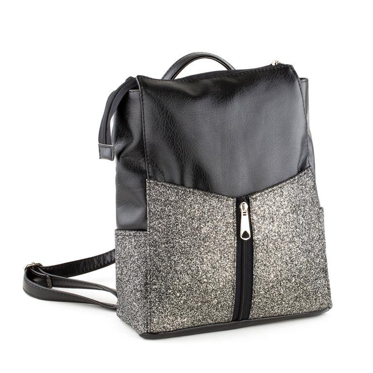 Rjet рюкзак без клапана черный титан с серым глиттером
