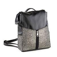 Rjet рюкзак без клапана черный титан с серым глиттером, фото 1