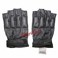 Перчатки тактические кожаные без пальцев DEFENDER Black MIL-TEC 12516002