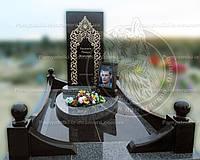 Памятник из гранита комбинированный установили на Северном кладбище Киевская обл №9.