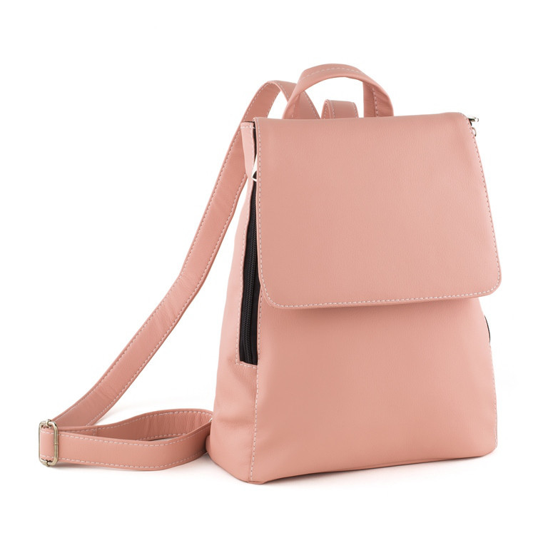 Рюкзак с клапаном светло розовый флай