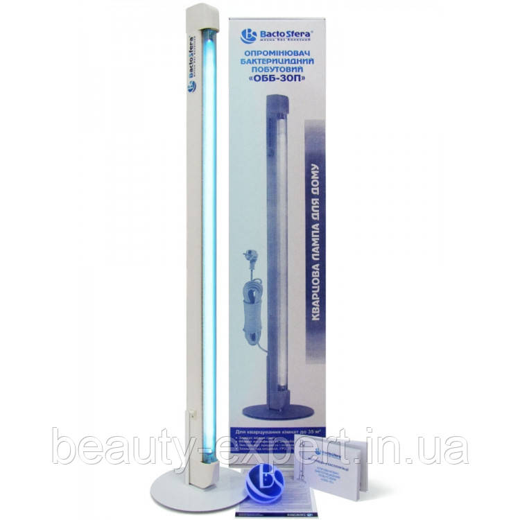 Облучатель бактерицидный бытовой BactoSfera OBB 30P OZONE: озоновая бактерицидная лампа, 8000 ч