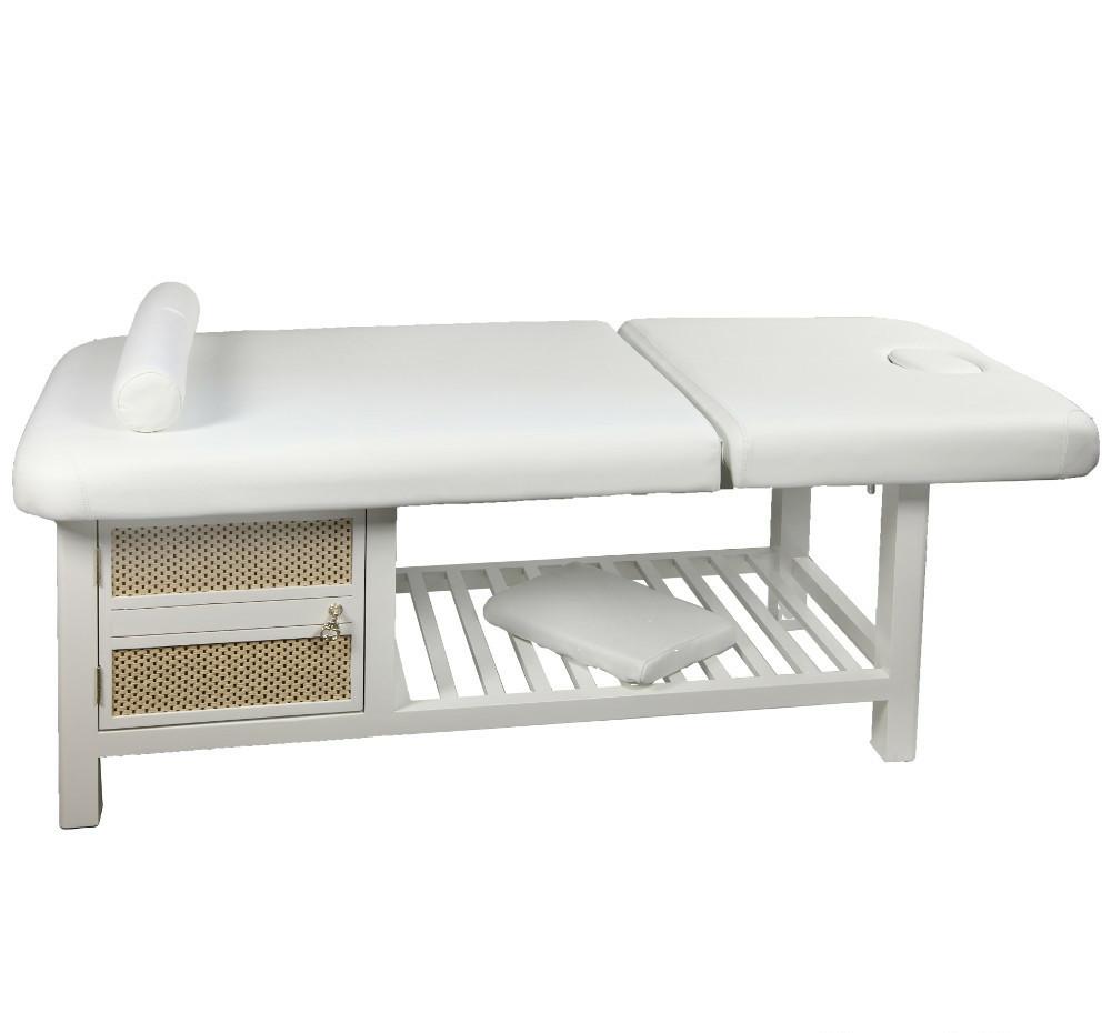 Масажний стіл білого кольору 877A