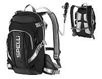 Вело рюкзак с гидросистемой черный Spelli