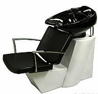 Парикмахерская кресло - мойка с белой керамикой Е007