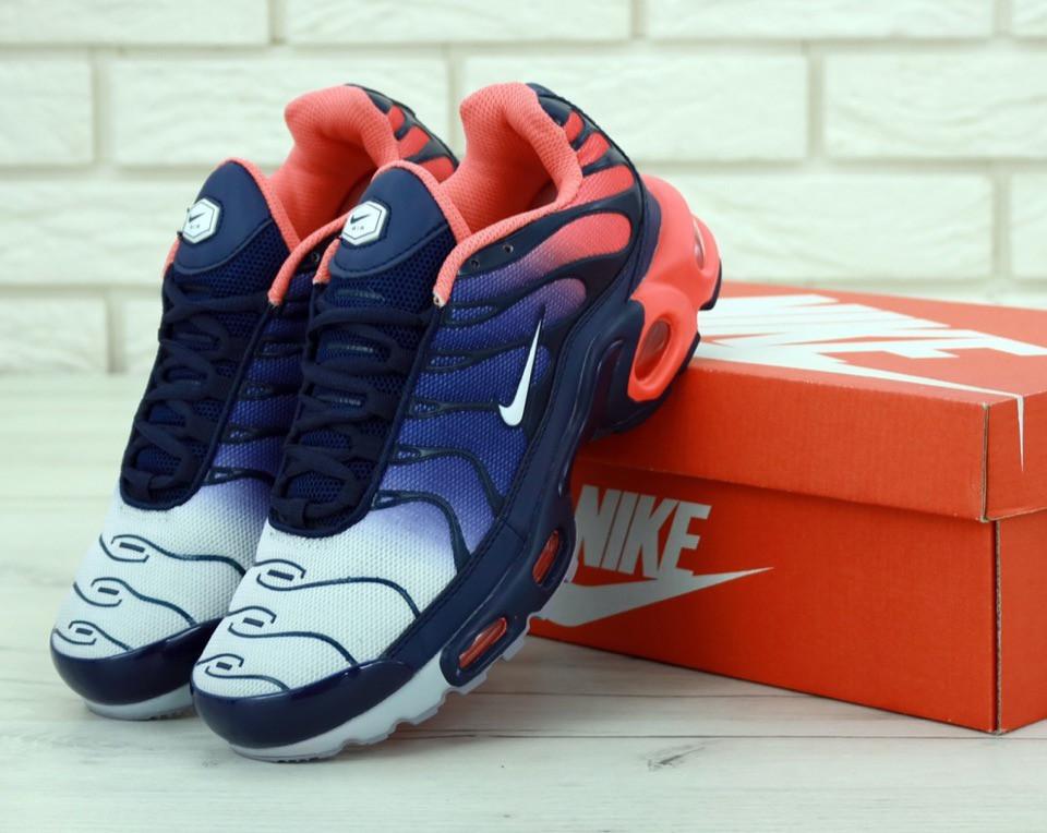 Мужские кроссовки Nike Air Max Tn Plus Navy Blue Red (Найк Аир Макс ТН)