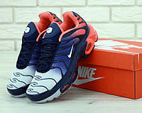 Мужские кроссовки Nike Air Max Tn Plus Navy Blue Red (Найк Аир Макс ТН), фото 1