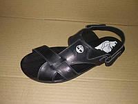 Мужские кожаные черные cандалии Timberland босоножки больших размеров 46,47,48,49,50
