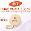 Блоки (диски) для CAD / CAM з поліметилметакрилату (PMMA) колір А0 висота заготовки 20 мм
