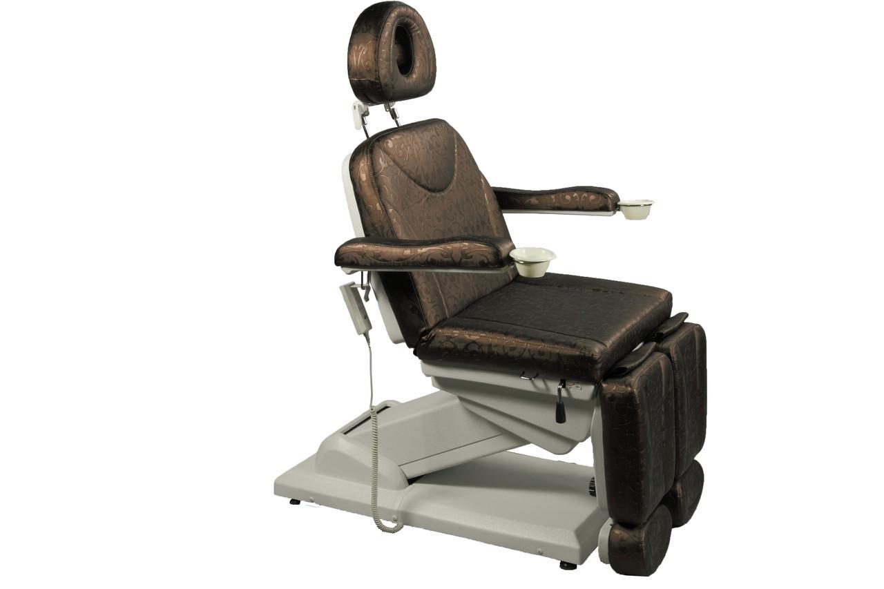 Кресло кушетка для педикюра электрическая регулировка + две раздельные подножки  ZD-848-3А (3-эл.мотора)