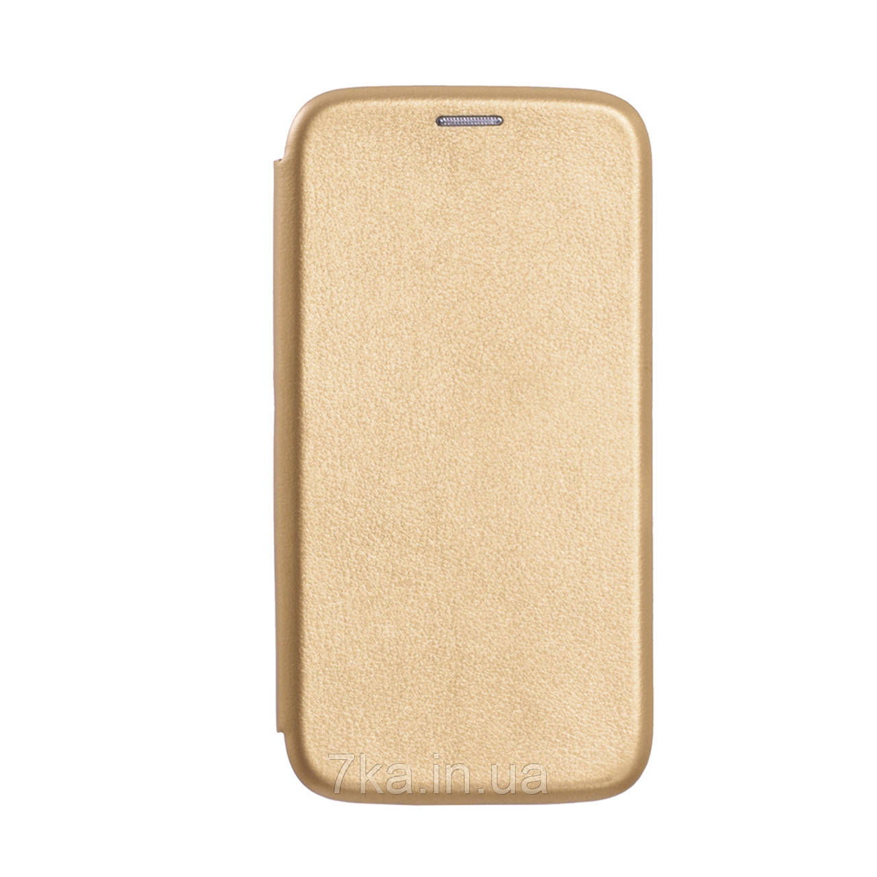 Чехол книжка Premium Leather на Meizu M6 золотой