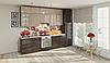 Кухня под потолок латте глянец/шоколад глянец