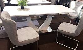 Стол в современном стиле раскладной Concord (Конкорд) 160 T-904 White, Evrodim
