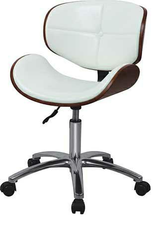 Стільчик майстра, крісло адміністратора білого кольору на пневматиці арт.2131