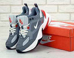 Мужские кроссовки Nike M2K Tekno Grey (Найк М2К Текно серые)