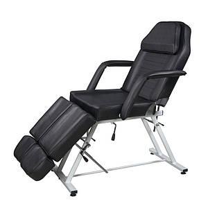 Педикюрное кресло кушетка механическая две раздельные подножки для педикюра, депиляции, тауажа  813А