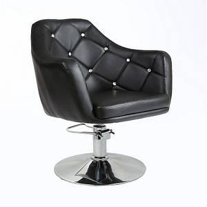 Кресло парикмахерское на гидравлике для клиентов HC-830H Черный, черный