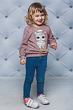 Свитшот для девочки с куклой LOL Персик