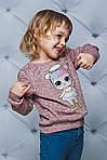 Свитшот для девочки с куклой LOL Персик, фото 2