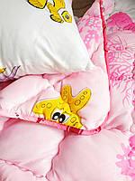 Комплект одеяло с подушкой в детскую кроватку