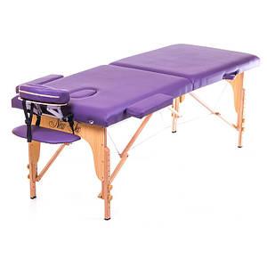 Переносной складной массажный стол PREMIERE purple (фиолетовый)  (PVC)