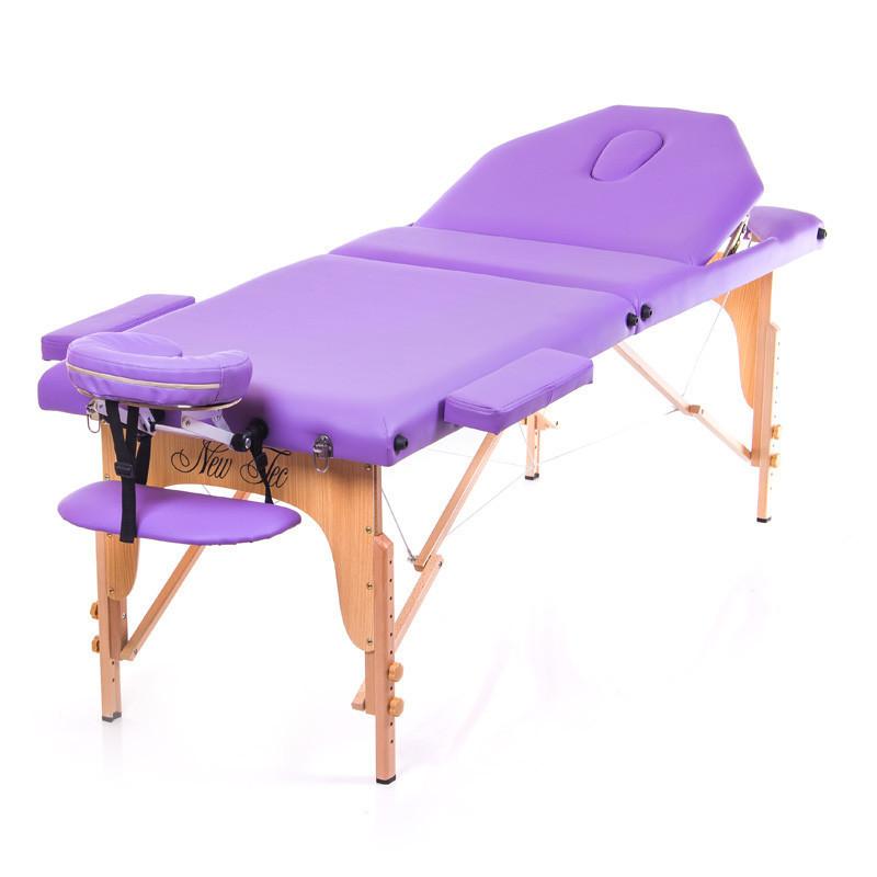 Складной массажный стол 3-х секции, кушетка переносная EXPERT (NEW TEC)