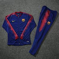 Детский спортивный костюм Барселона сезон 2018-2019 (синий)