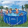 Каркасный сборно-разборный бассейн Bestway 56259 (∅3,6 м, круглый, песочный фильтр)